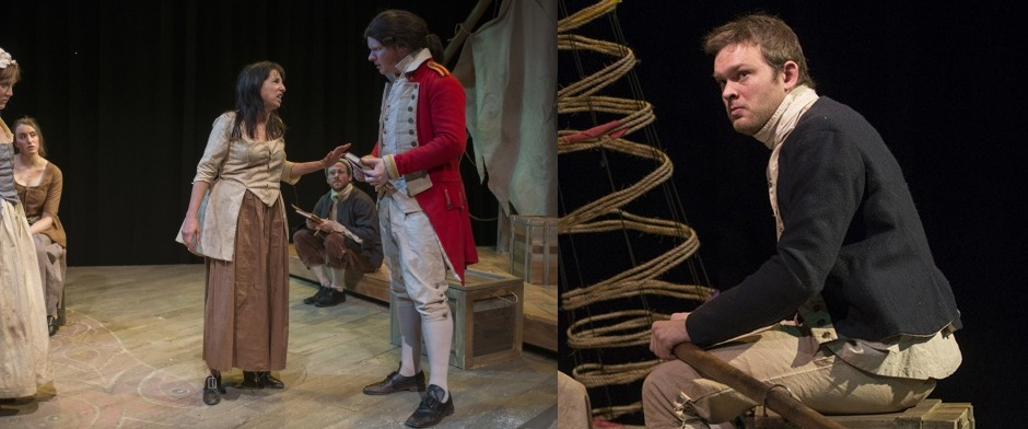 ATG Christina Gorman, ATG Eileen Niccolai and ATG Drew Schad  in Our Country's Good - Shattered Globe Theatre