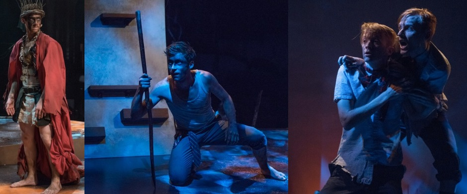 ATG Ty Olwyn as Jack and Ryan Heindl as Sam in Lord of The Flies - Steppenwolf Theater Company